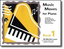 A musicalidade está na pessoa, não no instrumento. Para as aulas iniciantes ao piano/teclado, utilizamos a série Music Moves for Piano que desenvolve a música como uma linguagem através da qual o aluno pensa e comunica, e não como um ato mecânico de deprimir teclas.