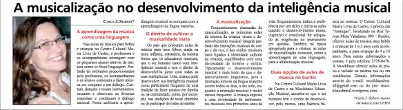Nosso artigo no Jornal do Buritis