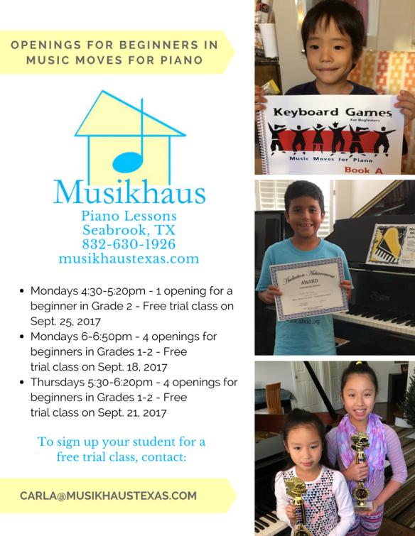 piano teacher seabrook texas